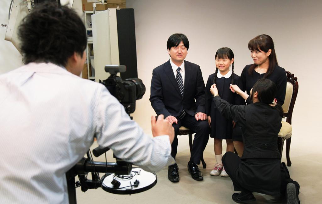 幼稚園・小学校お受験用の家族写真(千葉そごう写真館)