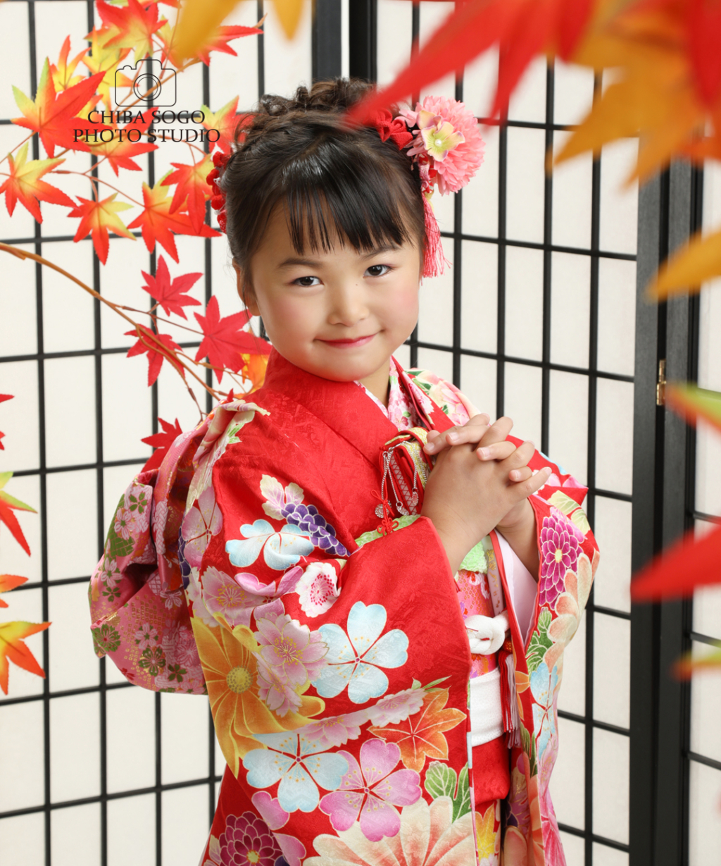 七五三記念写真撮影例(7歳女の子着物)千葉そごう写真館