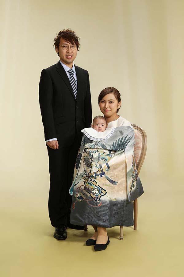お宮参り 赤ちゃん 家族
