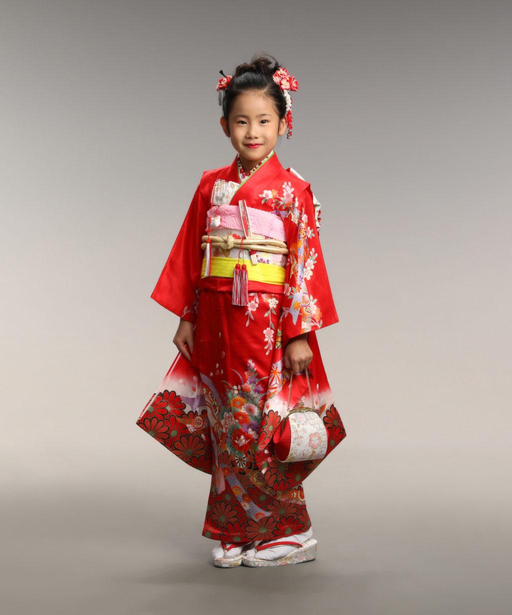 七五三記念写真撮影例(7歳女の子着物)横浜そごう写真館