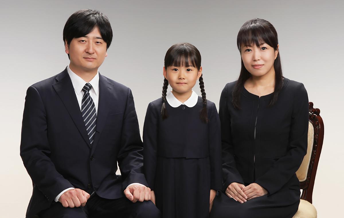受験願書用家族証明写真(幼稚園受験・小学校受験)横浜そごう写真館